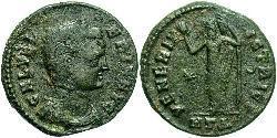 1 Фоллис Римская империя (27BC-395) Бронза Галерия Валерия (?-315)