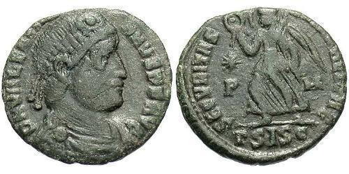 1 Фоллис / 1 AE3 Римская империя (27BC-395) Бронза Валентиниан I (321-375)