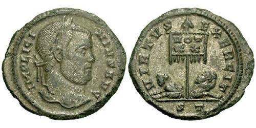 1 Фоллис / 1 AE3 Римская империя (27BC-395) Бронза Лициний I (265-324)