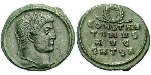 1 Фоллис / 1 AE3 Римская империя (27BC-395) Бронза Константин I (272 - 337)