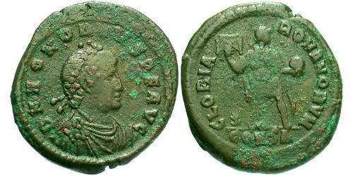 1 Фоллис /  AE2 Западная Римская империя (285-476) Бронза Гонорий (384-423)