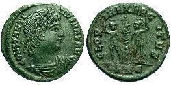 1 Фоллис /  AE4 Римская империя (27BC-395) Бронза Константин I (272 - 337)