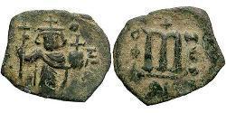 1 Фолліс Візантійська імперія (330-1453) Бронза Констант II (630-668)