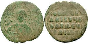1 Фолліс Візантійська імперія (330-1453) Бронза Констянтин VIII (960-1028)