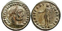 1 Фолліс Римська імперія (27BC-395) Бронза Галерій Максиміан (260-311)