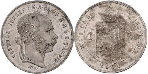 1 Форинт Австро-Венгрия (1867-1918) Серебро Франц Иосиф I (1830 - 1916)