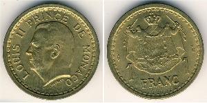 1 Франк Монако Алюминий/Бронза Луи II князь Монако (1870-1949)
