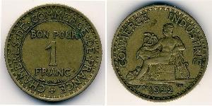 1 Франк Третья французская республика (1870-1940)  Бронза