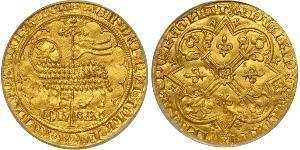 1 Франк Королевство Франция (843-1791) Золото Иоанн II (король Франции)(1319-1364)