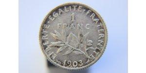 1 Франк Франція Нікель/Мідь/Срібло