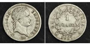 1 Франк Первая Французская империя (1804-1814) Серебро