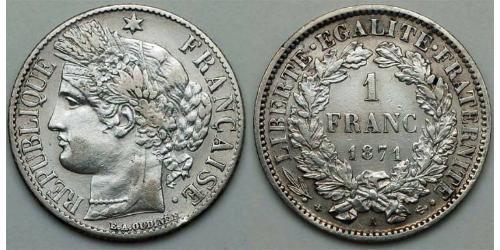 1 Франк Третья французская республика (1870-1940)  Серебро