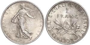 1 Франк Франция Серебро/Никель/Медь