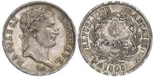 1 Франк Перша Французька імперія (1804-1814) Срібло