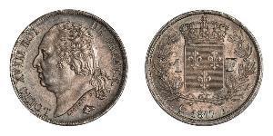 1 Франк Kingdom of France (1815-1830) / Франція Срібло Людовик XVIII  (1755-1824)