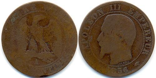 1 Франк Вторая французская империя (1852-1870)  Наполеон III Бонапарт (1808-1873)