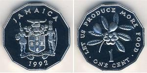 1 Цент Ямайка (1962 - ) Алюминий