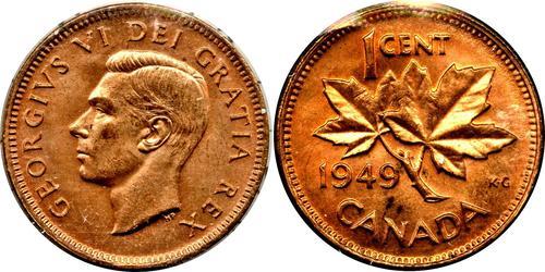 1 Цент Канада Бронза Георг VI (1895-1952)