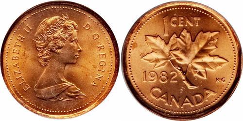 1 Цент Канада Бронза Єлизавета II (1926-)