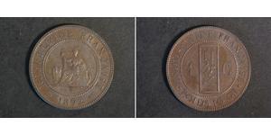 1 Цент Французский Индокитай (1887-1954) Бронза
