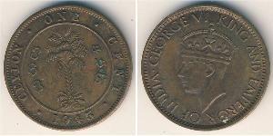 1 Цент Шрі Ланка/Цейлон Бронза Георг VI (1895-1952)