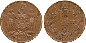 1 Цент Северное Борнео (1882-1963) Бронза/Медь