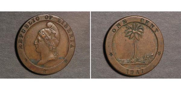 1 Цент Либерия Медь