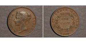 1 Цент Стрейтс-Сетлментс (1826 - 1946) Медь Виктория (1819 - 1901)