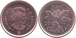 1 Цент Канада Мідь Єлизавета II (1926-)