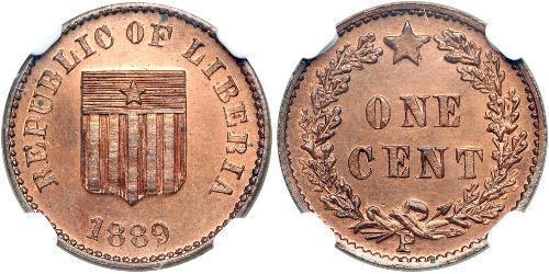 1 Цент Ліберія Мідь