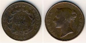 1 Цент Стрейтс-Сетлментс (1826 - 1946) Мідь Вікторія (1819 - 1901)