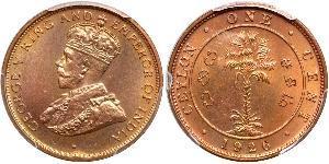 1 Цент Шрі Ланка/Цейлон Мідь Георг V (1865-1936)