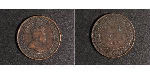 1 Цент Канада Цинк/Олово/Медь Эдуард VII (1841-1910)