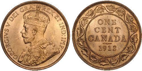 1 Цент Канада Цинк/Олово/Мідь Георг V (1865-1936)
