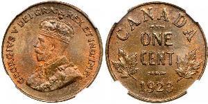 1 Цент Канада  Георг V (1865-1936)