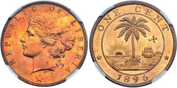 1 Цент Либерия
