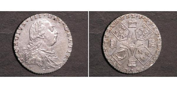 1 Шестипенсовик / 6 Пенни Великобритания  Серебро Георг III (1738-1820)