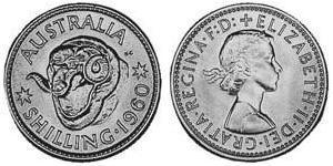 1 Шиллинг Австралия (1939 - ) Серебро Елизавета II (1926-)