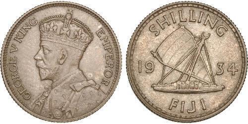 1 Шиллинг Британская империя (1497 - 1949) / Фиджи Серебро Георг V (1865-1936)