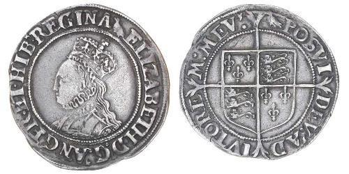 1 Шиллинг Королевство Англия (927-1649,1660-1707) Серебро Елизавета I (1533-1603)