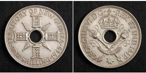 1 Шиллинг Новая Гвинея Серебро Георг VI (1895-1952)