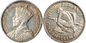 1 Шиллинг Новая Зеландия Серебро Георг V (1865-1936)