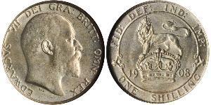 1 Шиллинг Соединённое королевство Великобритании и Ирландии (1801-1922) Серебро Эдуард VII (1841-1910)