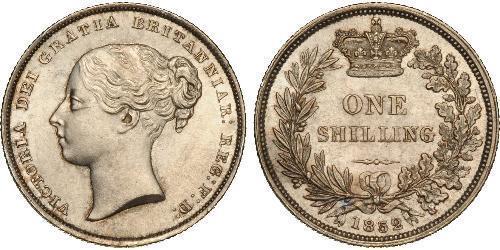 1 Шиллинг Соединённое королевство Великобритании и Ирландии (1801-1922) Серебро Виктория (1819 - 1901)