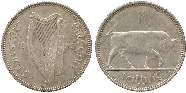 1 Шилінг Ірландія (1922 - ) Срібло