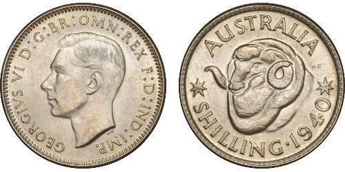 1 Шилінг Австралія (1939 - ) Срібло Георг VI (1895-1952)