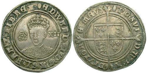 1 Шилінг Королівство Англія (927-1649,1660-1707) Срібло Едвард VI  (1537-1553)