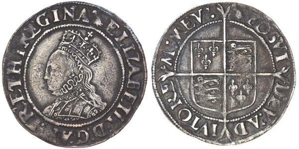 1 Шилінг Королівство Англія (927-1649,1660-1707) Срібло Єлизавета I (1533-1603)