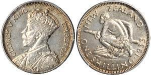 1 Шилінг Нова Зеландія Срібло Георг V (1865-1936)