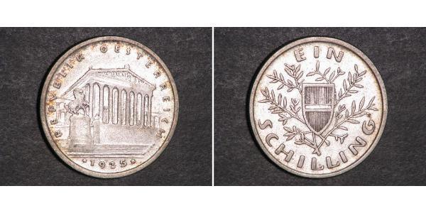 1 Шилінг Перша Австрійська Республіка (1918-1934) Срібло